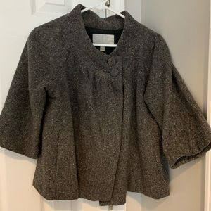 Grey cape with 2 bottoms at neck. Old Navy size M.